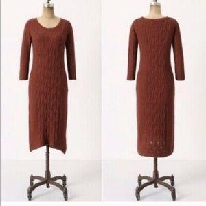 Sparrow Heaven Cable Knit Midi Dress